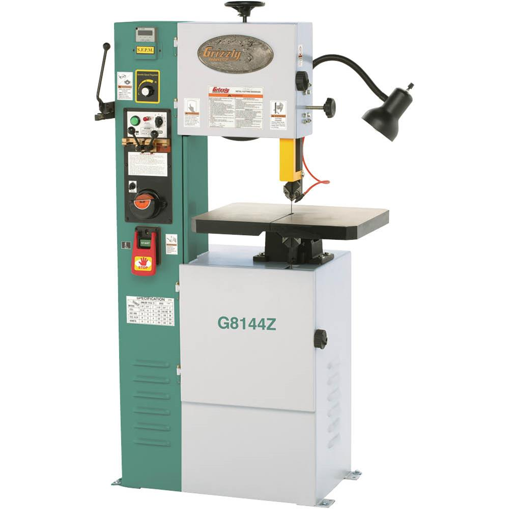 """Grizzly G8144Z 12"""" VS Vertical Metal-Cutting Bandsaw with..."""