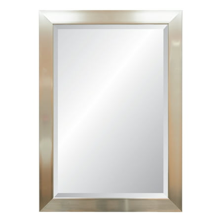 Vibe Rectangular, Beveled, Silver Frame Wall Mirror ()