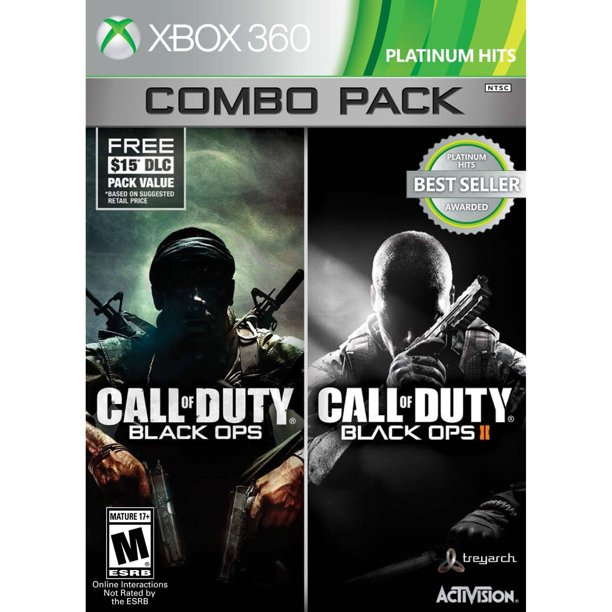 Call Of Duty Black Ops 1 2 Xbox 360 Combo With First Strike Map