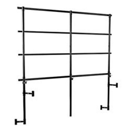 Tapered Back (National Public Seating GRR32T 32 in. Back Guard Rails for Tapered Risers - Black)