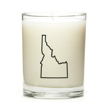 Personalized Idaho State Outline Candle, State Gift, College Gift, State Candle Made With Premium Soy Wax, Reusable 11 Ounce Glass Jar - Lemon