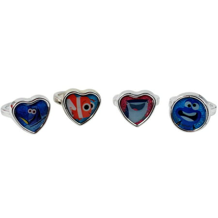 Disney Finding Dory Girls Rings and Earrings Set Days of the Week - 21pc