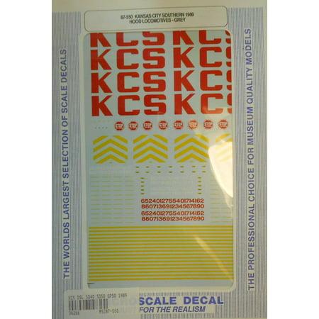 Microscale 87 550 Kansas City Southern   Kcs Diesels  Gray  1989