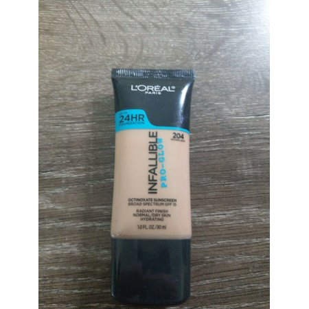 L'OREAL INFALLIBLE PRO-GLOW 24HR FOUNDATION SPF 15 ~ #204 NATURAL (L Oreal Infallible Pro Matte 24hr Foundation)