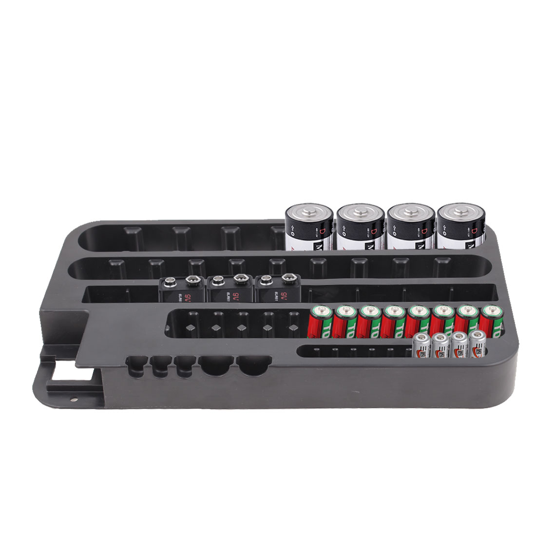 Battery Organizer Storage Case with Removeable Tester Holds 72 Batteries AAA D C - image 1 of 6