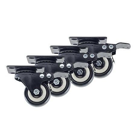 Houseables Caster Wheels 4 Locking Castors 2 Inch Black