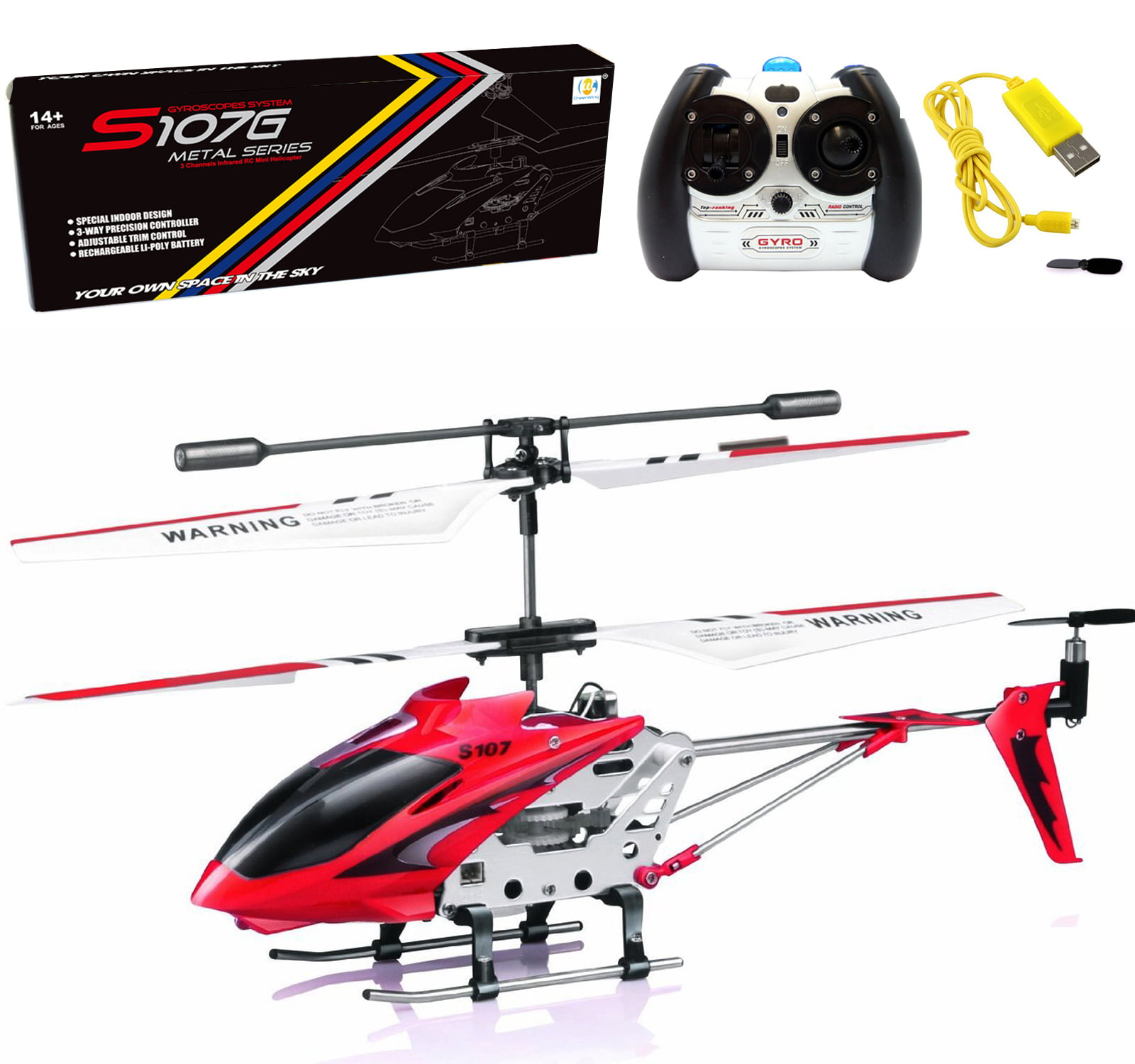 Syma S107//S107G Phantom 3CH 3.5 Channel Mini RC Helicopter with Gyro Blue