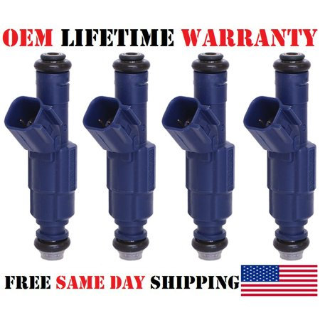 x4 Genuine Bosch Fuel Injectors For 2008 Mazda Tribute 2.3L I4 /P# 0280156162 Refurbished/ ()