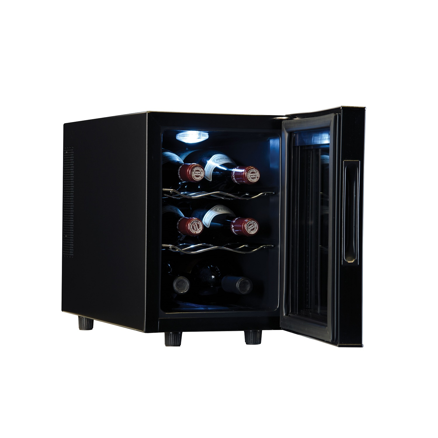 walmart ip display with top bottle digital black wine countertop com counter cooler haier
