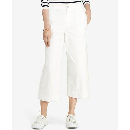 Ralph Lauren White Pants - New  6054-2 Ralph Lauren New Womens White Wide Leg Pants 2 B+B $115