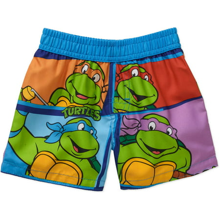 Boys' swim shorts and board shorts come in a variety of styles as well, many of which feature eye-catching primary colors and favorite characters from TV shows and movies. Even your infant can get in on the fun with swim diapers designed specifically to go in the water without leaking or swelling.