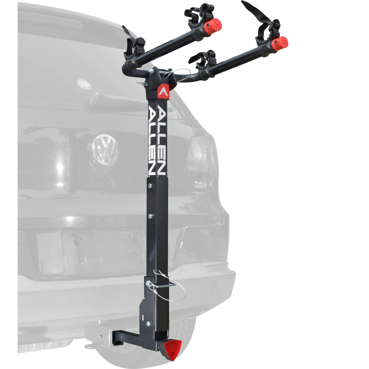 Allen Sports Deluxe Quick Install Locking 2-Bicycle Hitch Mounted Bike Rack Carrier, 522QR
