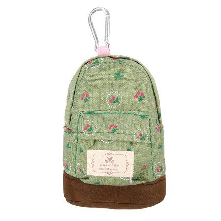 Cute Canvas Mini Coin Wallet Key Card Backpack Cash Bag Zipper Pouch Purse Girls Kids Women - image 5 of 5