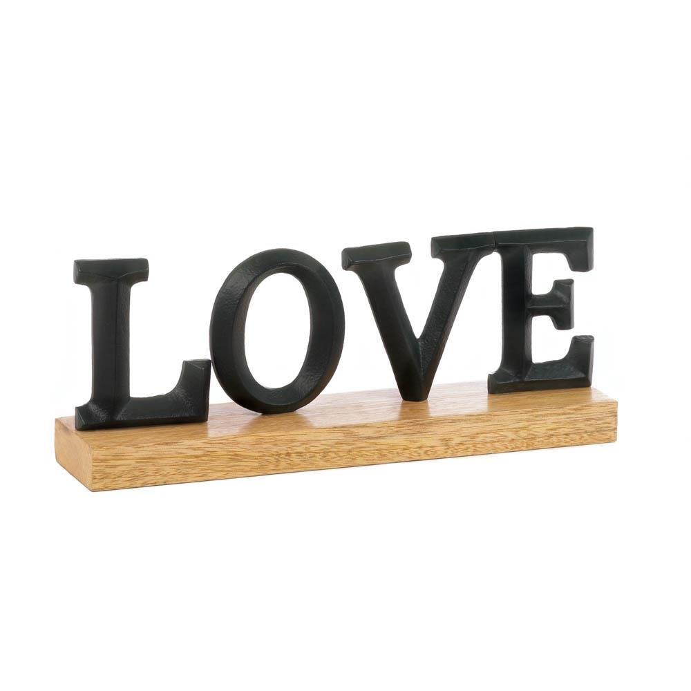 Metal Letter Decor Love Block Decorative Alphabet Home Rustic Letters