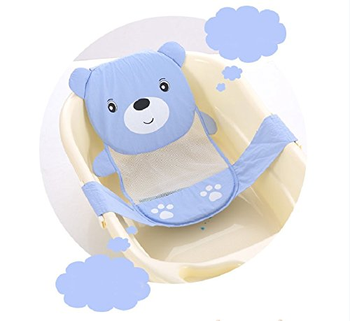 Yosoo Adjustable Thicken Newborn Baby Bath Seat Support Net Bathtub Sling Shower Mesh Bathing Cradle Rings for Tub
