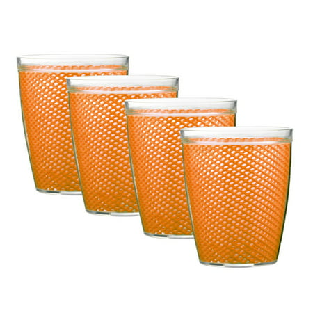 Kraftware Fishnet 14 oz. Doublewall Drinkware - Set of 4