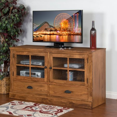 Sunny Designs Sedona 63 in. Entertainment Center – Rustic Oak