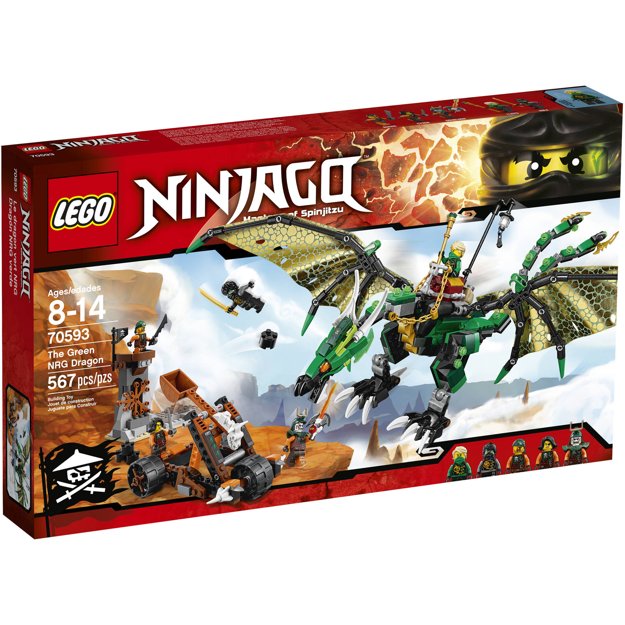 LEGO NINJAGO The Green NRG Dragon, 70593