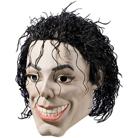 Plastic Man Michael Jackson King Of Pop Vinyl Mask Halloween Costume Accessory](Halloween Print Out Mask)