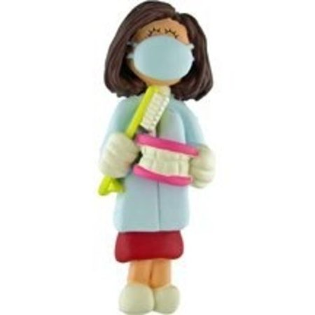 DENTIST DENTAL HYGIENIST FEMALE CHRISTMAS ORNAMENT GIFT PRESENT (Dentist Gifts)