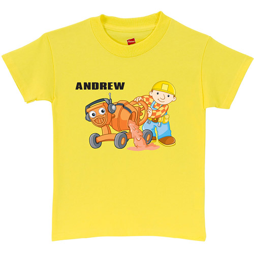 Personalized Bob the Builder Dizzy Toddler Yellow T-Shirt