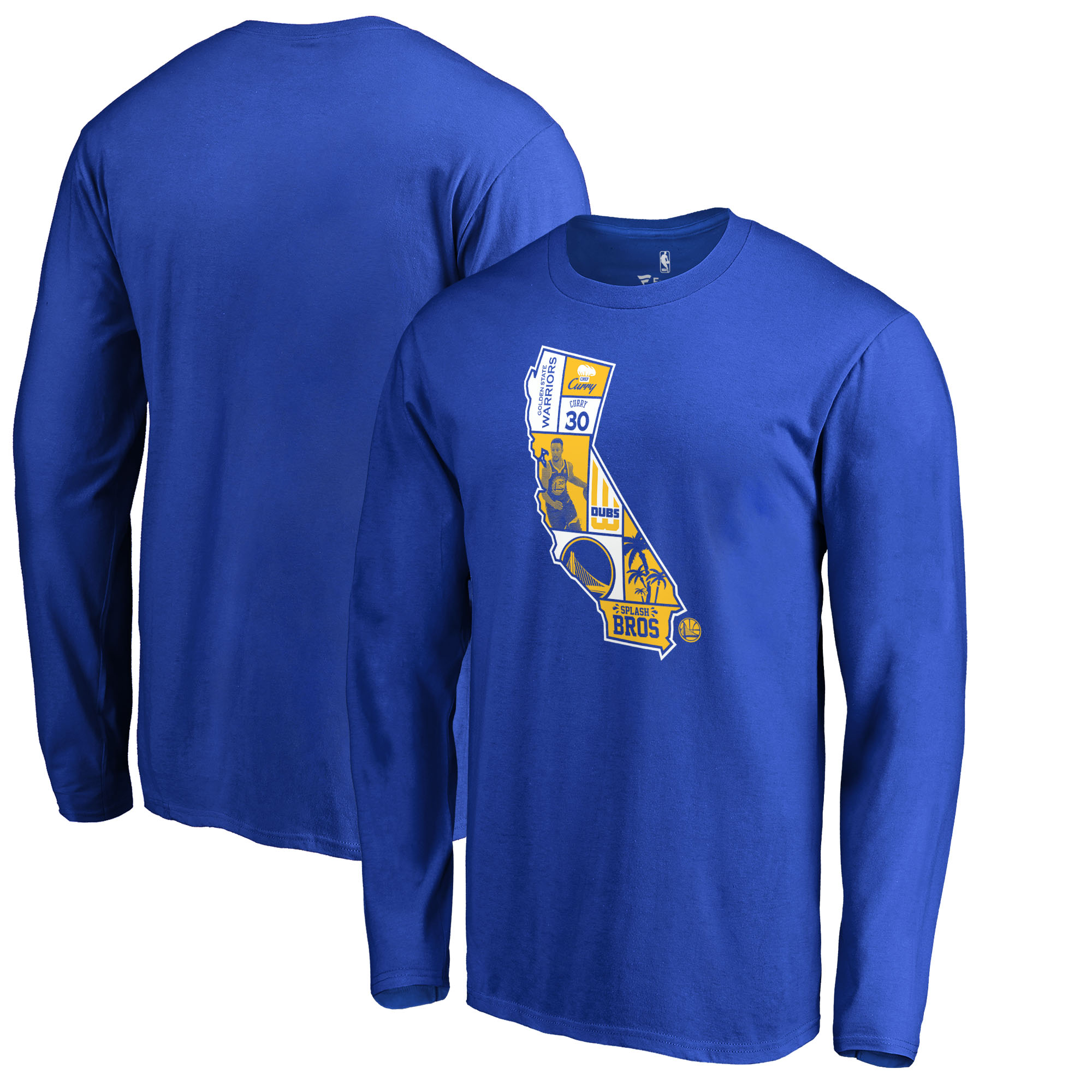 Stephen Curry Golden State Warriors Fanatics Branded Player State Long Sleeve T-Shirt - Royal
