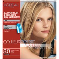 L'Oreal Paris Couleur Experte Hair Color + Hair Highlights, Medium Blonde - Toasted Coconut, 1 kit