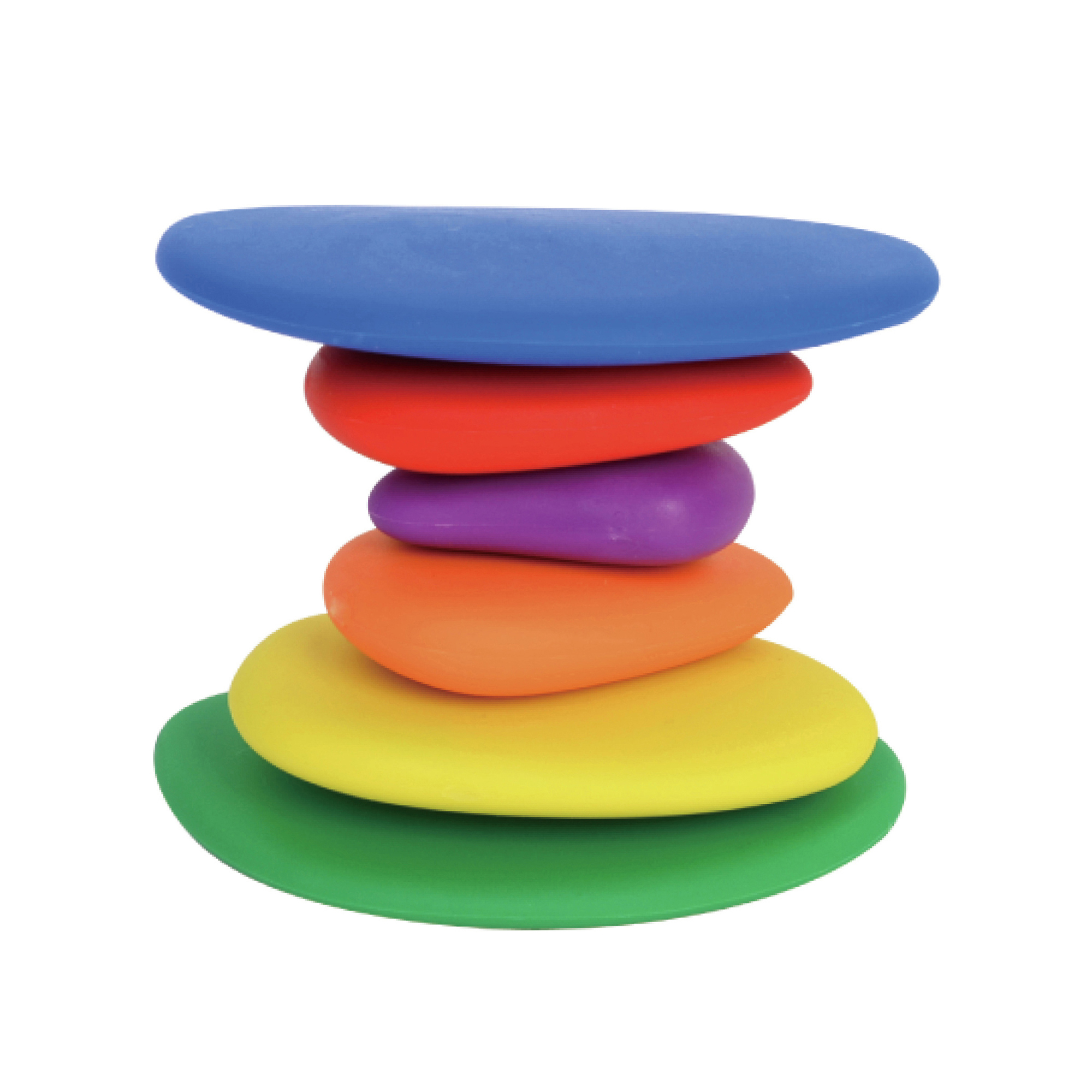 Colorful Set with Storage Case Stacking and Sorting Stone Set with Activity Cards Rainbow Counting Pebbles 70pc Educational Toy for Kids Great Gift for Pre-School Learning in School /& Home