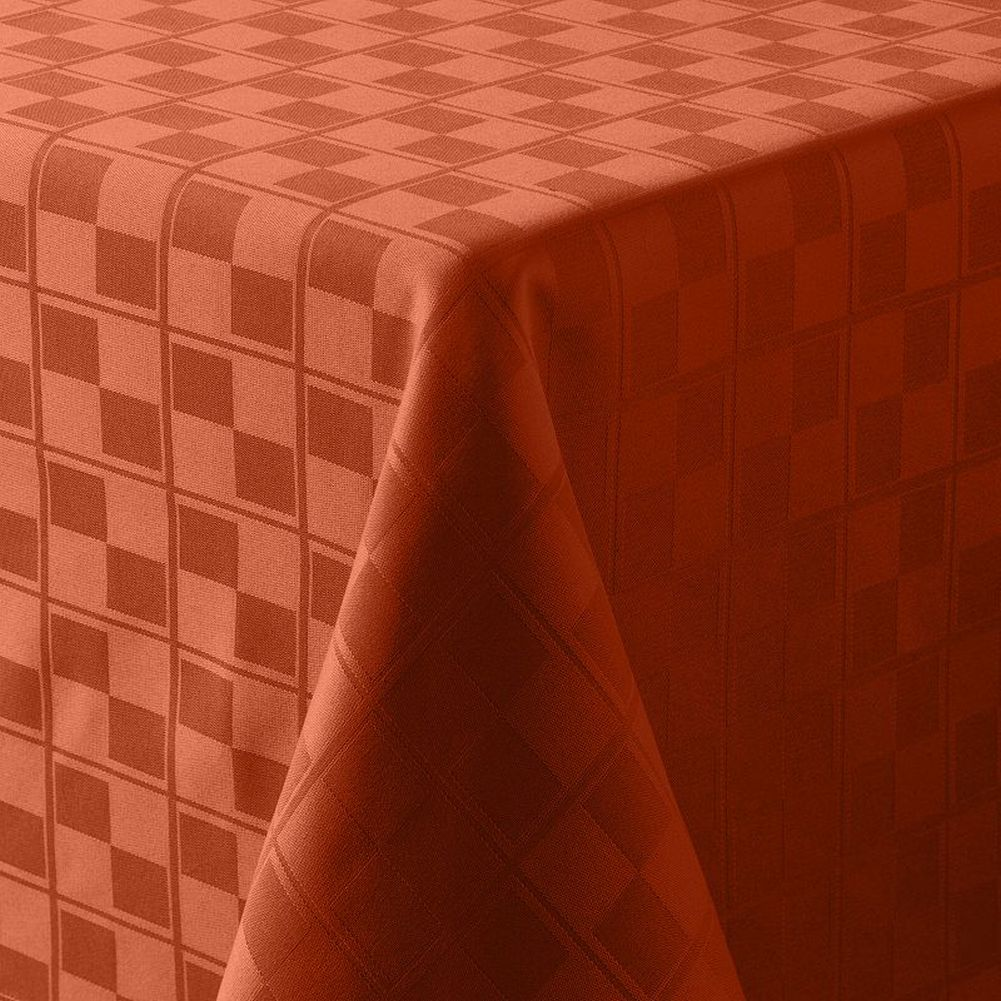 Food Network Auburn Rust Microfiber Tablecloth Table Cloth