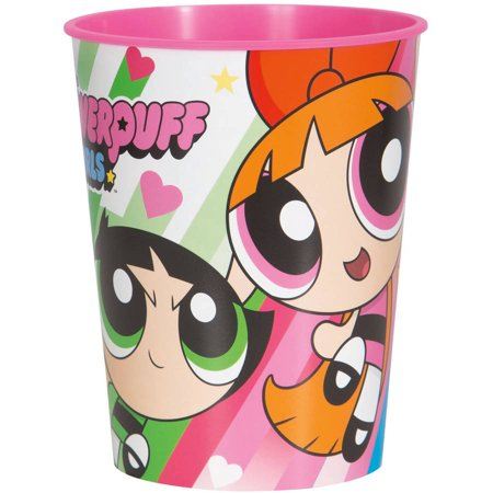 16oz Powerpuff Girls Plastic Stadium Cup, 1ct