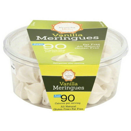 Krunchy Melts Vanilla Meringues Cookies, 4 oz, (Pack of 12) - Ghost Meringues