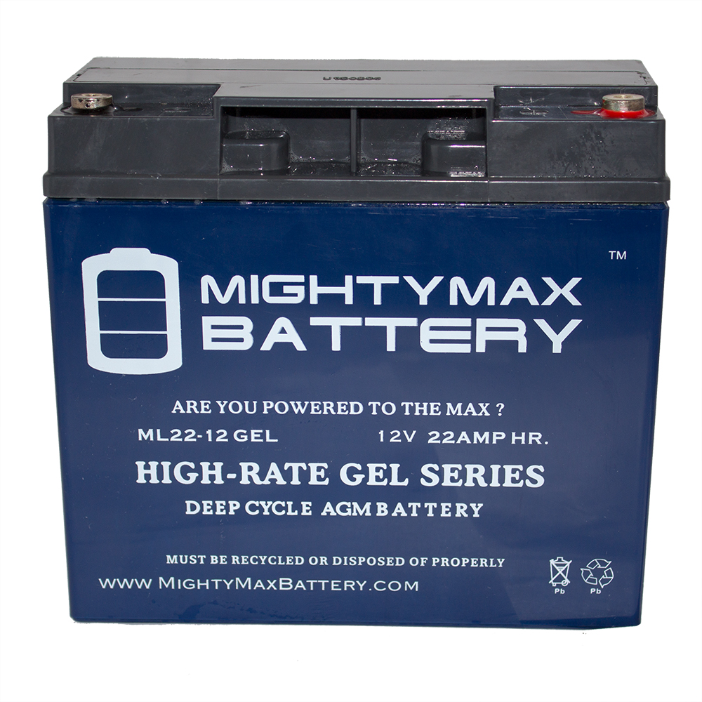 12V 22AH GEL Battery for Tacahe Mid-Wheel Drive Heavy Duty PC1451M