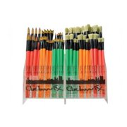 Synthetic and Bristle Urban Art Brush Display Assortment