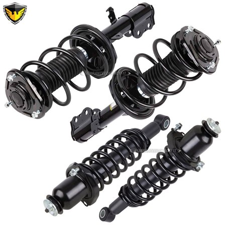 Complete Set Duralo Front Rear Strut Spring Assembly For Toyota Corolla -  Walmart com