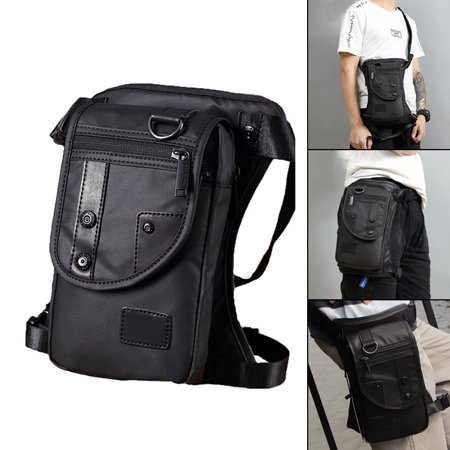 Men Waist Bag, Belt Strap Bag,Oxford Cloth,Zipper Pouch Leg Bag, Bum Hip Shoulder Bags,Messenger Crossbody Waist Pack Purse,Waterproof Fanny Falling Bag,for Motorcycle (Best Motorcycle Deals 2019)