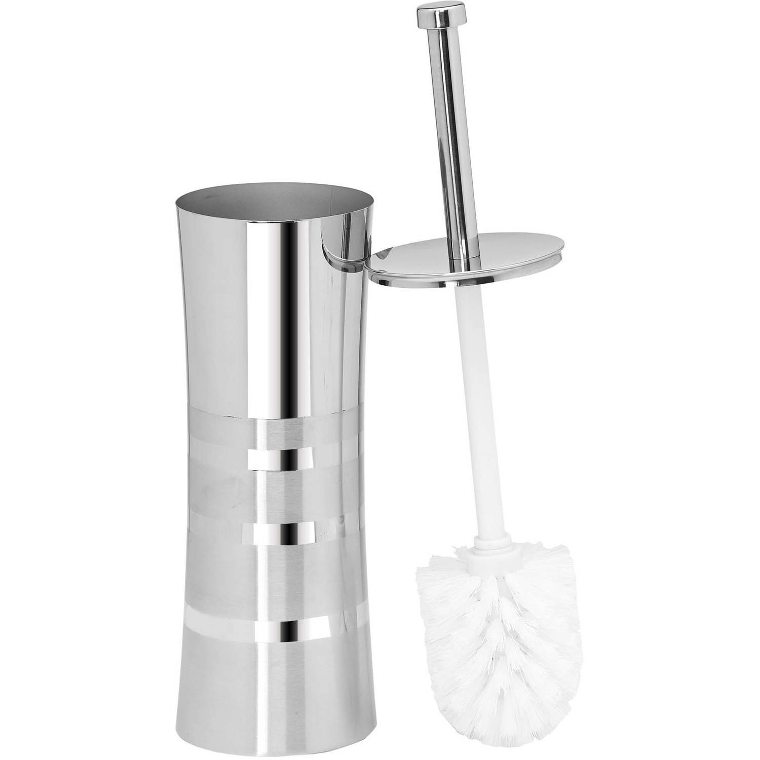 Bath Bliss Stainless Steel Toilet Brush with 2-Tone Curved Body by Kennedy International, INC.