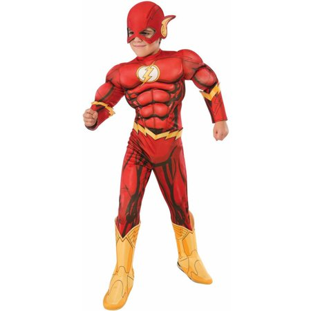 Flash Deluxe Child Halloween Costume (Halloween Costumes For Fat Kids)