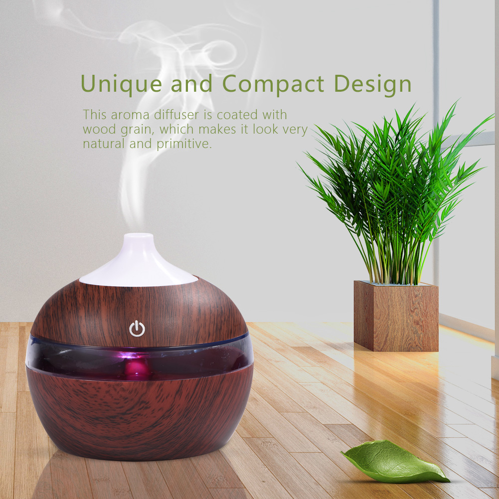 Mini Humidifier,Mini Humidifier,300ML LED Ultrasonic Humidifier Cool Air Oil Diffuser Purifier Home Office Room