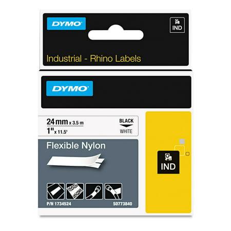 DYMO Rhino Flexible Nylon Industrial Label Tape, 1