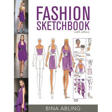 Fashion Sketchbook : Studio Access Card (Fashion Sketchbook By Bina Abling 6th Edition)