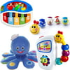 Baby Einstein 0-12 Months Toy Value Set, includes Take-Along Tunes Toy, Activity Balls, Bendy Ball Toy, Piano Toy, Mini Piano Toy, Soft Blocks, and Octoplush Toy