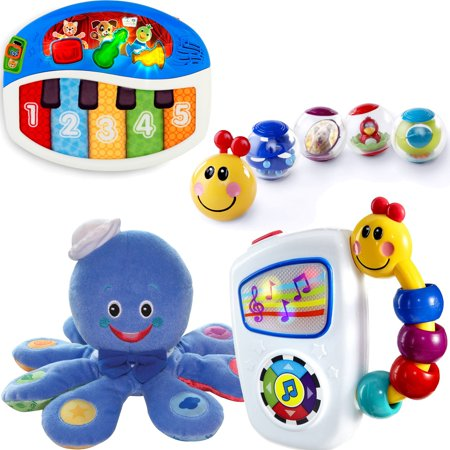 Baby Einstein 0-12 Months Toy Value Set, includes Take-Along Tunes Toy, Activity Balls, Bendy Ball Toy, Piano Toy, Mini Piano Toy, Soft Blocks, and Octoplush (Best Baby Einstein Items For Toddlers)