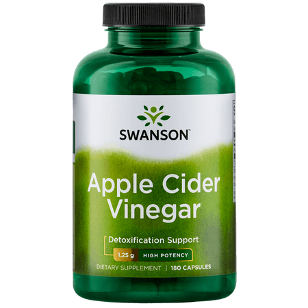 Swanson High Potency Apple Cider Vinegar Capsules, 1.25 g, 90 (Apple Cider Vinegar On Hair Before And After)