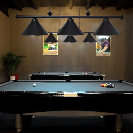 Black Billiard Lamp (Black Metal Pool Bar Table light Billiards Lamps Snooker Hanging  Pendant)