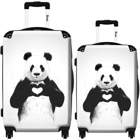 iKase Suitcase Panda All you need is love - Set 20