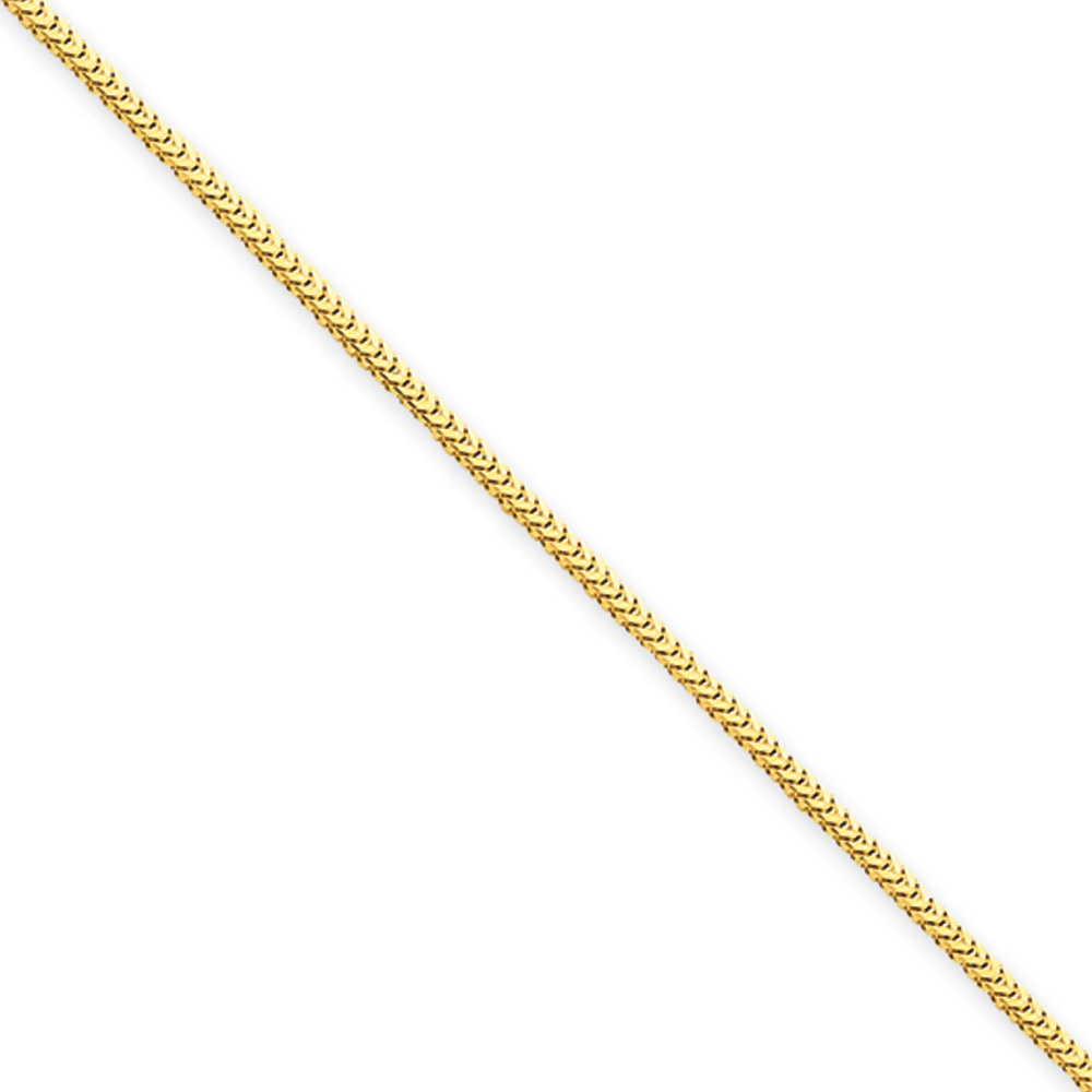 The Black Bow 1mm, 14k Yellow Gold, Solid Franco Chain Ne...