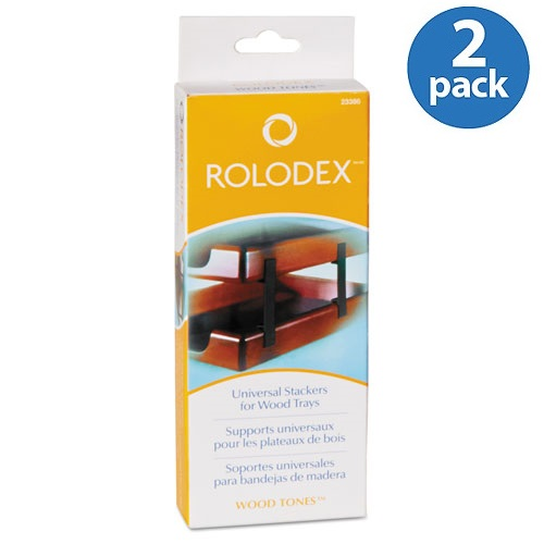 (2 Pack) Rolodex, ROL23386, Stacking Tray Support, 4 / Set, Black