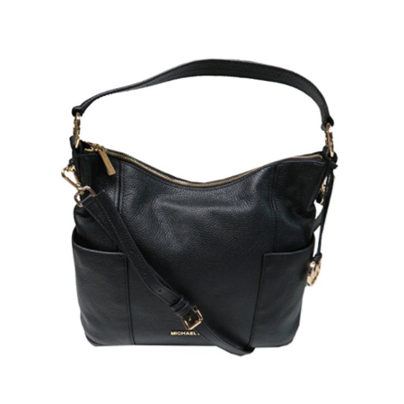 Michael Kors Large Convertible Shoulder Handbag Crossbody Pebbled Leather Black 35S7GA8L3L-001