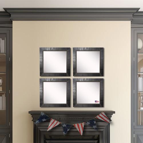Rayne Mirrors Ava Tuscan Ebony Wall Mirror (Set of 4)