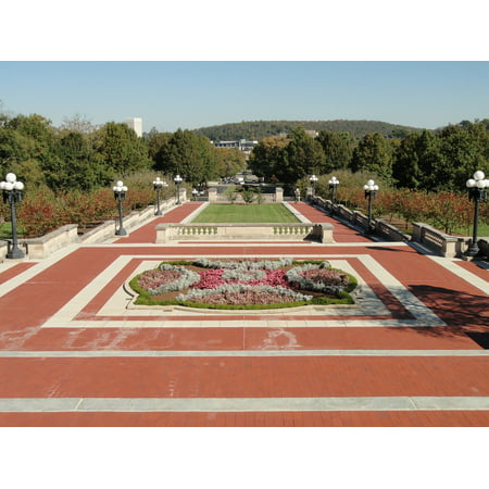Canvas Print Capitol Flowers Kentucky Plants Plaza Frankfort Stretched Canvas 10 x 14